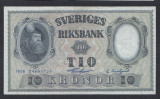 A5164 Sweden Suedia 10 kronor 1958 SEMNATURI DIFERITE UNC aUNC