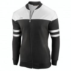 Bluza pentru barbati, negru, casual, cu fermoar, slim fit - Jay, L, M, S, XL, XXL