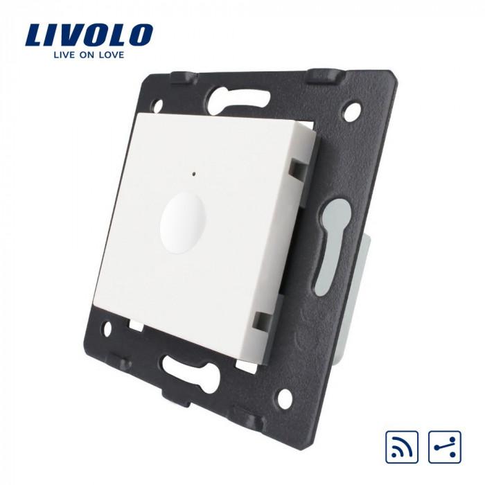 Modul intrerupator wireless cap scara / cap cruce cu touch LIVOLO, Serie noua, Alb