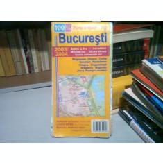 BUCURESTI 2003-2994 - HARTA, PLANUL ORASULUI, INDEX STRAZI