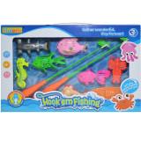 Undite de pescuit + pesti, 1 set/cutie