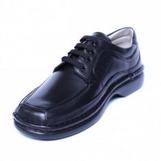 Pantofi barbati din piele naturala, Square, Gitanos, Negru, 39 EU