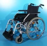 Scaun cu rotile fotoliu handicap pliabil B+B / latime sezut 52 cm