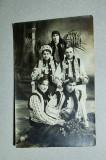 Port popular din Bucovina, fotografie veche tip carte postala, Circulata