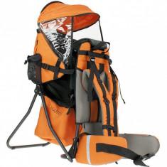 Rucsac pentru transport copii Clasic Guto, 6-18 kg, 75 x 38 cm, Portocaliu foto