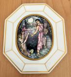 Tablou portelan / Placheta - Heinrich / Villeroy and Boch - Orfeu si Euridice