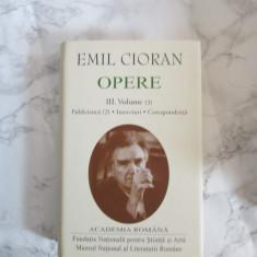 EMIL CIORAN OPERE, VOL.III, ACADEMIA ROMANA