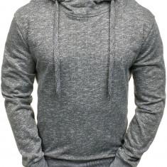 Bluză cu glugă pentru bărbat gri-închis Bolf 7033