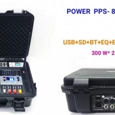 MIXER AUDIO AMPLIFICAT/ACTIV,PUTERE 800 WATT,6 CANALE,4 IESIRI PT.BOXE,EFECTE,EQ