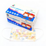 Set 50 de masti de unica folosinta pentru copii cu imprimeu iepurasi si umbrele