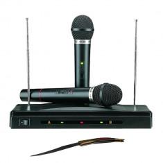 Set microfoane wireless si reciever C 05 cutit spaniol cadou