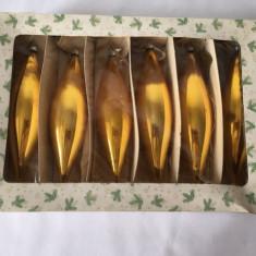Cutie 6 globuri de brad vechi de sticla, deosebite, vintage, decor, West Germany