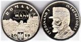 Moneda 50 bani 2019 comemorativa UNC din fisic regele Ferdinand