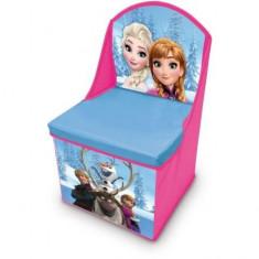 Scaun cu depozitare jucarii Frozen - Anna si Elsa