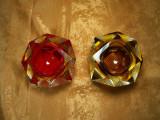 Murano Somerso cristal, vide poche, multifatetate, vintage