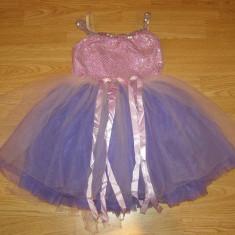 costum carnaval serbare zana floare rochie dans balet pentru copii de 4-5-6 ani