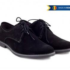 Pantofi barbati casual - eleganti din piele naturala intoarsa - PAN336VEL