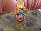Vintage / Design - Vaza deosebita din ceramica tip figurina / fetita cu codite !
