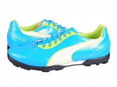 Ghete fotbal Puma V5.11 TT blue - white - lime 10233905, 46, Bleu, Barbati