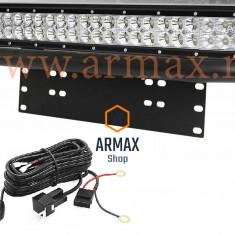 Set proiector led bar 51cm 126w  cu mini bullbar si suport numar + kit releu