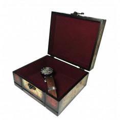 Caset? bijuterii din lemn - vintage