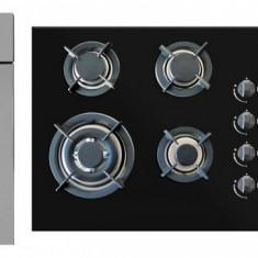 Pachet Cuptor electric + Plita + Hota Pyramis Elegant Home Touch Black Glass