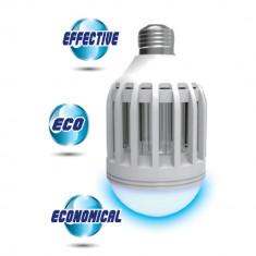 Bec LED 9W cu lampa UV capcana anti insecte tantari muste fluturi Fasung E27