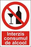 Indicator Interzis consumul de alcool - Semn Protectia Muncii