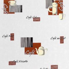Tapet model coffee cu finisaj metalic evidentiat 062-20