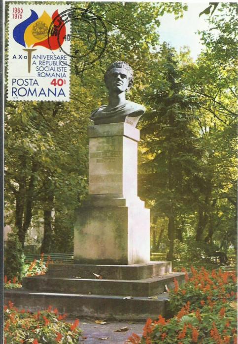 AMS - CARTE A X- a ANIVERSARE A REPUBLICII SOCIALISTE ROMANIA, SUCEAVA 1976
