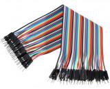 10 cabluri (20cm) dupont TATA-TATA (male-male) Arduino cablu breadboard (v.432)