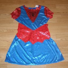 costum carnaval serbare spiderman spidergirl pentru copii de 7-8 ani
