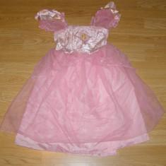 costum carnaval serbare rochie barbie printesa pentru copii de 4-5-6 ani