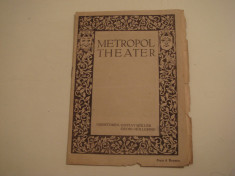 Broschüre Metropol Theater direktoren: Gustav Muller/ Georg Hollering foto