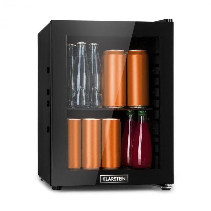 Klarstein MilkySafe, frigider pentru băuturi, A +, 1 raft metalic, ușă din sticlă, negru