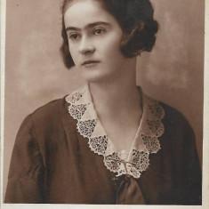 Fotografie portret tanara Oradea studio Rona poza veche interbelica romaneasca