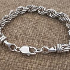 Superba bratara argint 925 -impletita- manufactura vintage