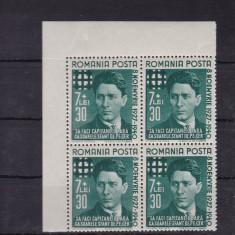 ROMANIA 1940  LP 142 I   CORNELIU  ZELEA   CODREANU  BLOC DE 4 TIMBRE   MNH