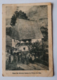 Carte postala necirculata.Casa lui Avram Iancu in Vidra de Sus la 1923., Fotografie, Alba Iulia