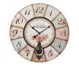 Ceas de perete Rose de Provence - L'arte di Nacchi, Roz