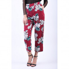 Pantaloni Florali Vila Condia 7/8 Rosu