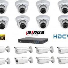 Kit Supraveghere Video 2 Megapixeli Exterior HD-CVI Dahua v2