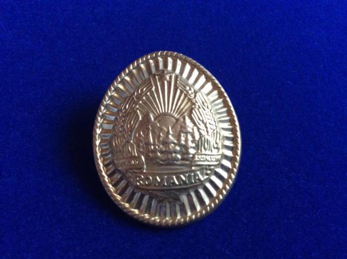 Insignă militară - Insignă România -  Cuc/Caschetă/Emblemă/Coifură - Soldat RSR