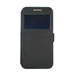 Husa Time View cu magnet lateral pentru Samsung Galaxy A9 2018, Black