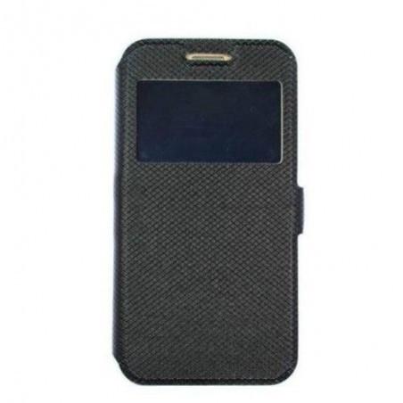 Husa Time View cu magnet lateral pentru Samsung Galaxy A80, Black