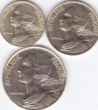 Moneda Franta 5, 10 si 20 Centime 1995 - KM#929-30/933 UNC ( set x3 ), Europa