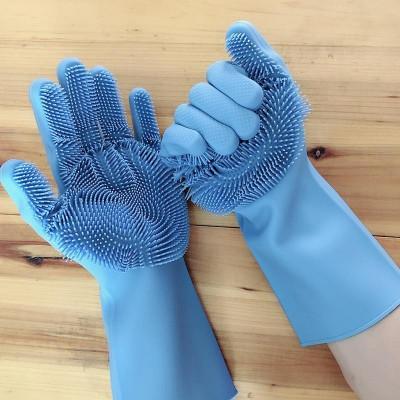Manusi profesionale cu perii pentru spalat vasele, pentru protejarea mainilor foto