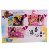 Set Puzzle 3 in 1, cu schite de colorat Soy Luna, Disney