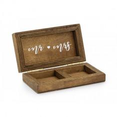 Cutie din lemn pentru verighete foto