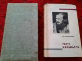 FRATII KARAMAZOV- DOSTOIEVSKI, editie bibliofila, pe foita de tigarete,cu etui